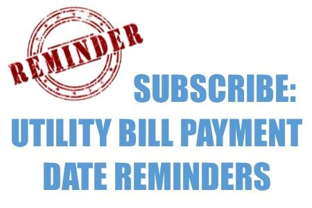 utiility bill payment reminder